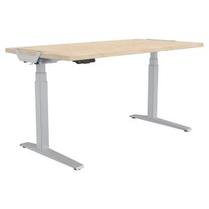 Schreibtisch Fellowes 9709301, verstellbar, Größe: 140 x 80cm, ahorn