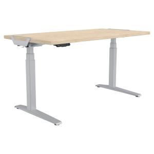 Schreibtisch Fellowes 9709501, verstellbar, Größe: 180 x 80cm, ahorn