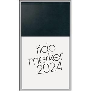 Tischkalender 2019 Rido Merker 35083, 1 Tag / 1 Seite, 10,8 x 20,1cm, schwarz