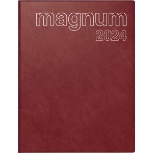 Buchkalender 2019 ide 27042 Magnum, 1 Woche / 2 Seiten, 18,3x24cm, bordeaux