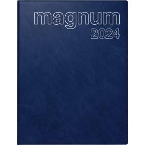 Buchkalender 2019 ide 27042 Magnum, 1 Woche / 2 Seiten, 18,3x24cm, blau
