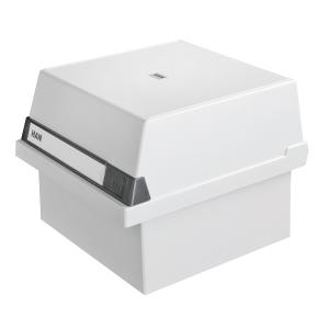 Karteikasten HAN 965, A5 quer, für max. 800 Karten, lichtgrau