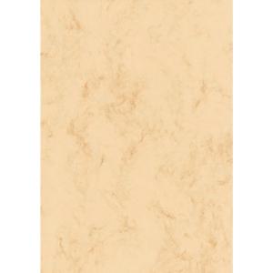 Papier Sigel DP372, A4, 90g, marmoriert, beige, 100 Blatt