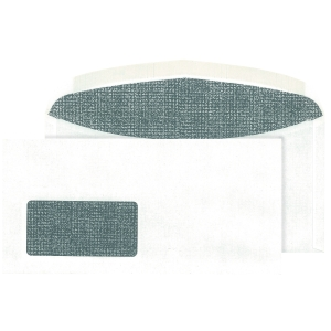Kuvertierumschläge Blessof 30005394 C6/5 114x229mm mit Fenster NK weiß 1000St