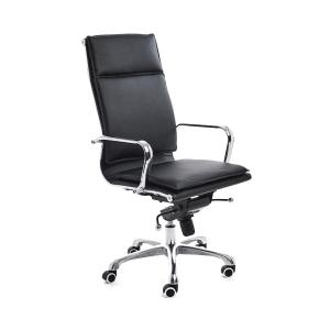Bürostuhl CEP 986, Management, hohe Rückenlehne, Kunstleder, schwarz