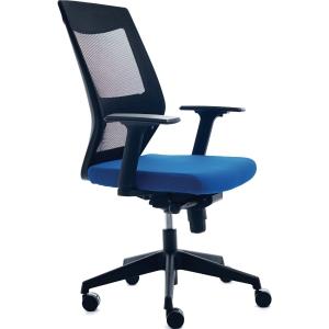 Bürostuhl CEP 908-3 Lumbar Mesh, mittelhohe Rückenlehne, blau/schwarz