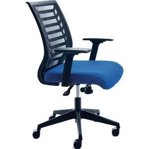 Bürostuhl CEP 907-3, Mesh, mittelhohe Rückenlehne, blau/schwarz