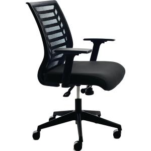 Bürostuhl CEP 907-4, Mesh, mittelhohe Rückenlehne, schwarz