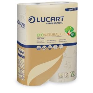 Toilettenpapier Lucart 811929 Econatural, Kleinrolle, 3-lagig, 250 Blatt, 30St