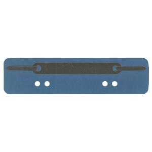 Heftstreifen, kurz, RC-Karton, Metalldeckleiste, blau, 25 Stück