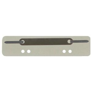 Heftstreifen, kurz, RC-Karton, Metalldeckleiste, grau, 25 Stück
