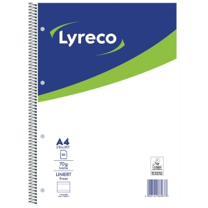 Collegeblock Lyreco, A4, liniert, 70g, 4fach gelocht, 80 Blatt
