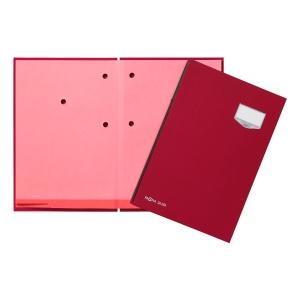 Unterschriftsmappe Pagna 24201, 20 Fächer, Leineneinband, rot