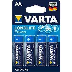 Batterie Varta 4906, Mignon, LR06/AA, 1,5 Volt, Longlife Power, 4 Stück