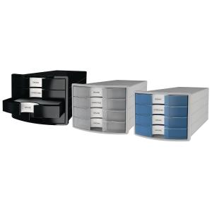 Schubladenbox HAN 1012, 4 Schubladen, schwarz