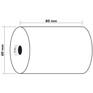 Thermorollen Exacompta 43804E, Breite: 80, Länge: 44m, Kern-D.: 12mm, 10 Stück