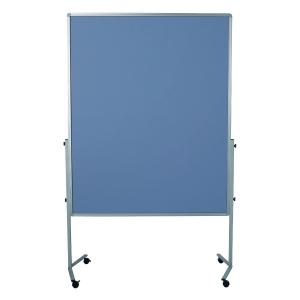 Moderationswand Legamaster 204200, Maße: 120x150cm, Filz, 4 Rollen, blau/grau