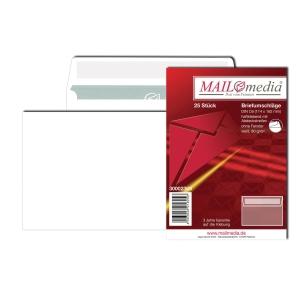 Briefumschläge C6, ohne Fenster, Haftklebung, 80g, weiß, 25 Stück