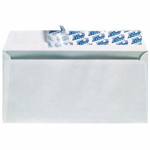 Kompaktumschläge 125 x 235mm, mit Fenster, Haftklebung, 80g, weiß, 100 Stück
