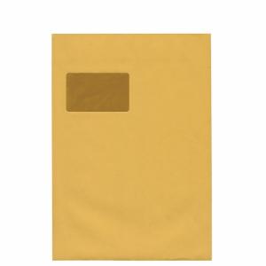 Versandtaschen C4, mit Fenster, Selbstklebung, 100g, braun, 100 Stück
