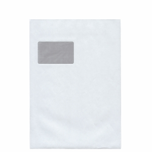 Versandtaschen C4, mit Fenster, Selbstklebung, 100g, weiß, 100 Stück