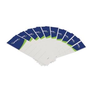 Rückenschilder Lyreco, kurz / breit, weiß, 10 Stück