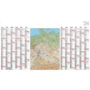 Plakatkalender 2019 Bühner LK12, 12 Monate / 1 Seite, 139 x 79cm, inkl. Pieker