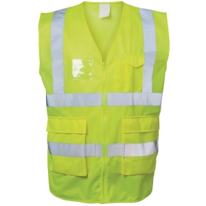 Warnschutzweste Safestyle 23510, Reißverschluss, Größe M, gelb