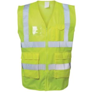 Warnschutzweste Safestyle 23510, Reißverschluss, Größe XL, gelb
