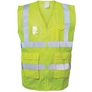 Warnschutzweste Safestyle 23510, Reißverschluss, Größe 2XL, gelb