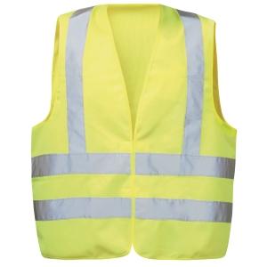 Warnschutzweste Feldtmann 22681, Klettverschluss, Einheitsgröße, gelb