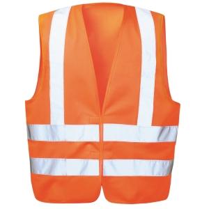 Warnschutzweste Feldtmann 22682, Klettverschluss, Einheitsgröße, orange