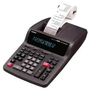 Tischrechner Casio FR-620TEC, druckend, 12-stellig, Netz-/Batteriebetrieb, swz