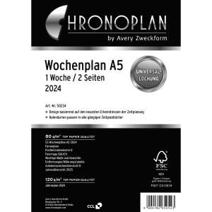 Wochenplan 2019 Chronoplan 50239, 1 Woche / 2 Seiten, A5