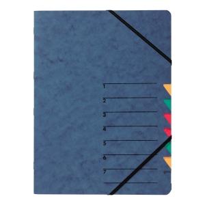 Ordnungsmappe Pagna 24061, 7 Fächer, mit Gummizug, blau