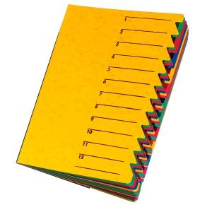 Ordnungsmappe Pagna 24131, 12 Fächer, mit Gummizug, gelb