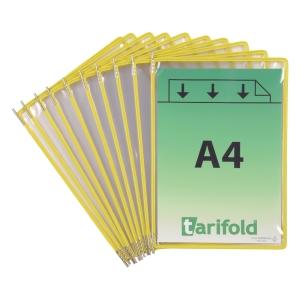 Drehzapfentafel Tarifold Technic 114004, A4, gelb, 10 Stück