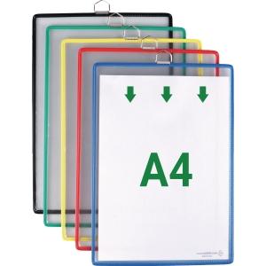 Hängetafel Tarifold Individual mit Aufhänge-Öse, A4, farbig sortiert, 5 Stück