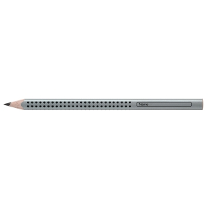 Bleistift AWF 111900, Jumbo, Härtegrad: B, silbergrau lackierter Schaft, 12St