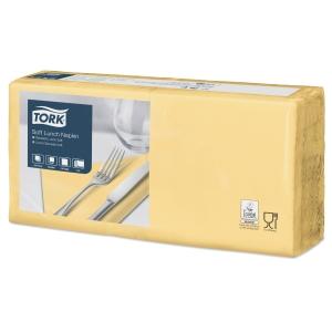 Servietten Tork 477862, Maße: 33 x 33cm, 3-lagig, gelb, 150 Stück