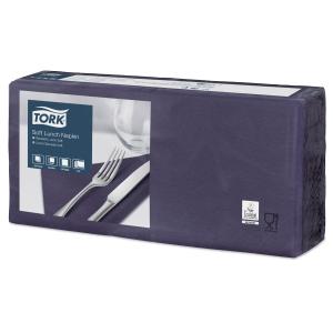 Servietten Tork 477412, Maße: 33 x 33cm, 3-lagig, blau, 150 Stück