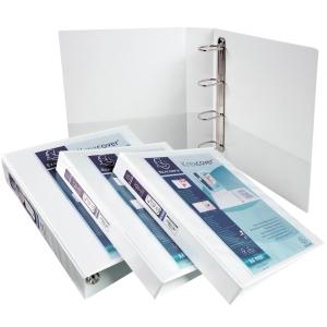 Präsentationsringbuch Exacompta 51841E, 4 Ringe, Ringdurchmesser: 20mm, weiß