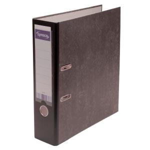 Ordner Lyreco Standard, mit Einsteckschild, A4, Rückenbreite 80mm, schwarz