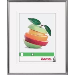Bilderrahmen Hama 66435, Sevilla, 30 x 40cm (Bildformat: 20 x 28cm), silber matt