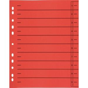Trennblätter A4, durchgefärbt, rot, 100 Stück