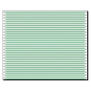 Endlospapier 1fach, 304,8 x 375mm, Leselinien, 60g, 2000 Blatt