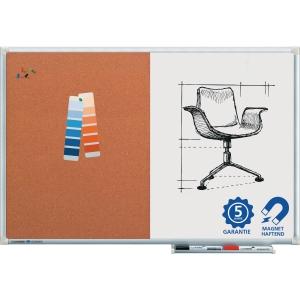 Kork-Weißwandtafel Legamaster 102443, Maße: 90x60cm, mit Aluminiumrahmen