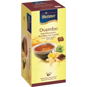 Tee Meßmer 586641 Rooibos-Vanille, 25 Beutel a 2,0g