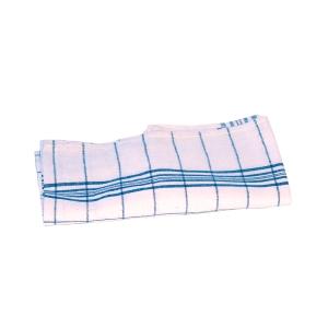 Geschirrtuch, Maße: 70 x 50cm, aus Baumwolle, blau/weiß, 10 Stück