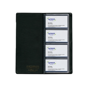Visitenkartenalbum Durable 2380, Visifix, für 96 Karten, 115 x 253mm, schwarz